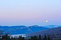 moonset over the Columbia